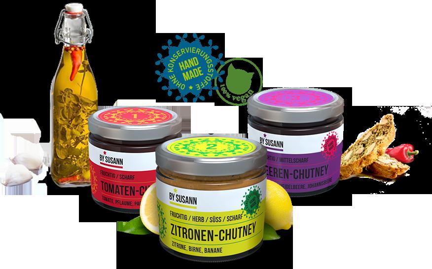 Unsere Produkte | BySusann - Chutneys und mehr